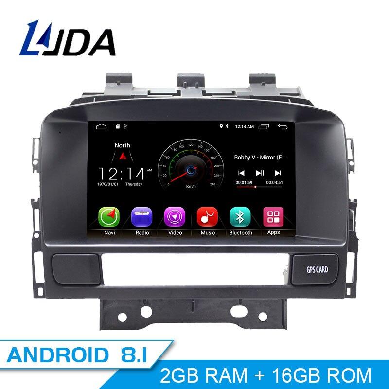 LJDA Android 8.1 Car DVD Player For Buick Verano Vauxhall Opel Astra J GPS Navigation 2 Din Car Radio Multimedia WIFI Stereo SD
