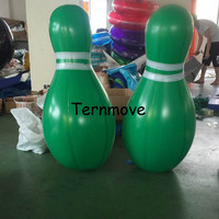 Inflatable Bowling Pins Set Game 6 pieces human bowling ball Giant Bowling Ball Game Large Airtight Inflatable Pins