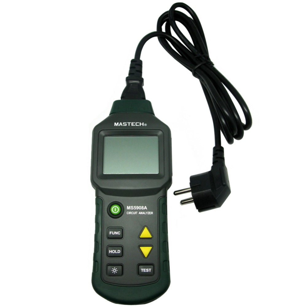 MASTECH New MS5908A T RMS voltage GFCI RCD Tester Circuit Analyzer fit IDEAL Sure Test 61-164CN mastech ms5908 serial rms circuit analyzer tester compared w ideal sure test socket tester ms5908c eu plug