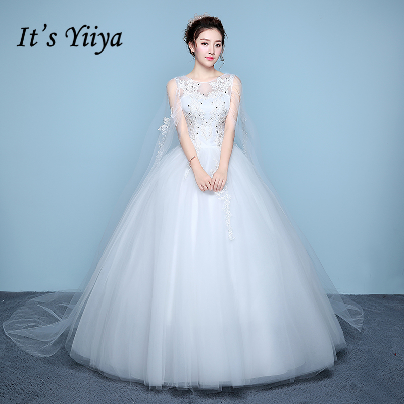 Wedding Dress White Vs Off White: It's YiiYa Off White Popular Sleeveless Wedding Dress