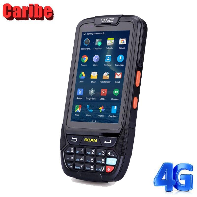 Style industriel de Smartphone de Bluetooth de Scanner de code barres du PDA a \ Android 1D de Caribe PL-40L pour la collecte de données