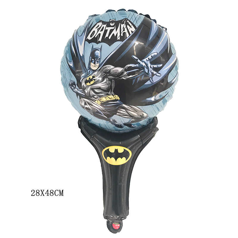 1 ピースバットマンの手スティックバルーンアルミ箔風船誕生日パーティーの装飾子供のおもちゃ用品