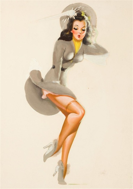 Pop Sexy Watercolor Vintage Pin up Girl Poster Classic