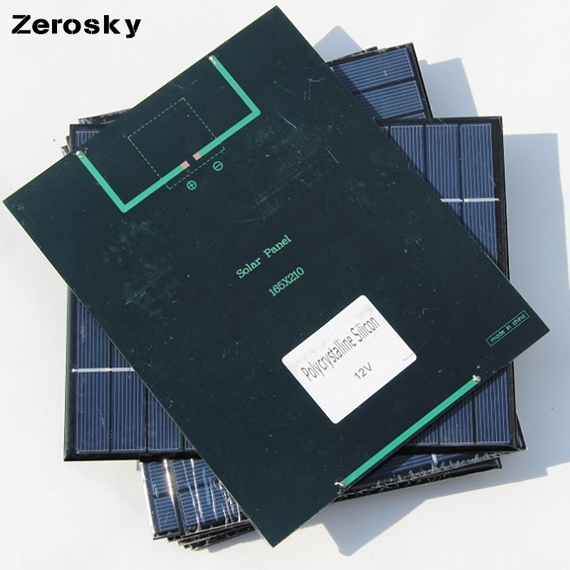 Zerosky panel solar power bank batería externa portable del cargador usb para el