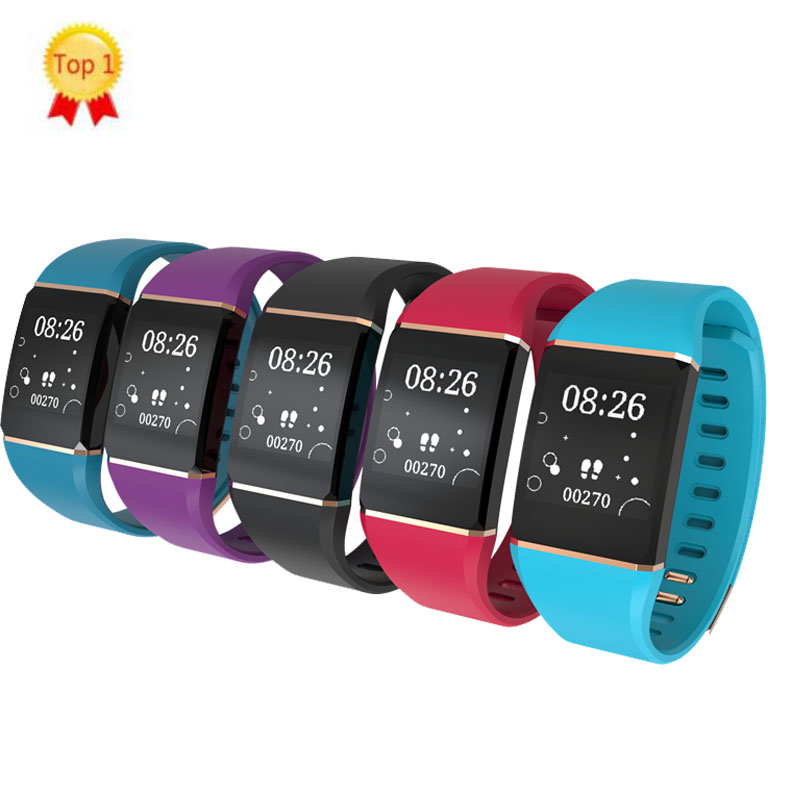 2019 latest upgraded smart wristband fitness band bracelet watch app for android ios phone music play control weather forecast image