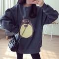 & Toronto Camisola Imprimir Hoodies Mulheres Harajuku Pullover Sudadera Preto Coreano 2016 Outono Inverno Manga Longa de Algodão Solto