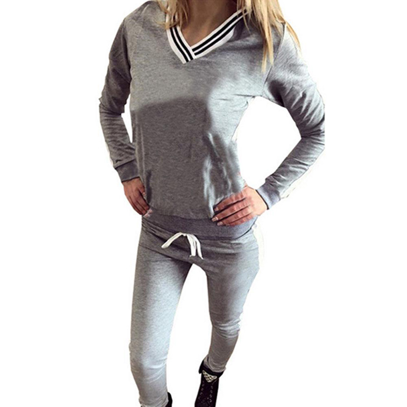 Women 2PCS casual Suit Tracksuit Hoodies Sweats Sweatshirt Long Pants Sets Wear Suit Clothes plus size