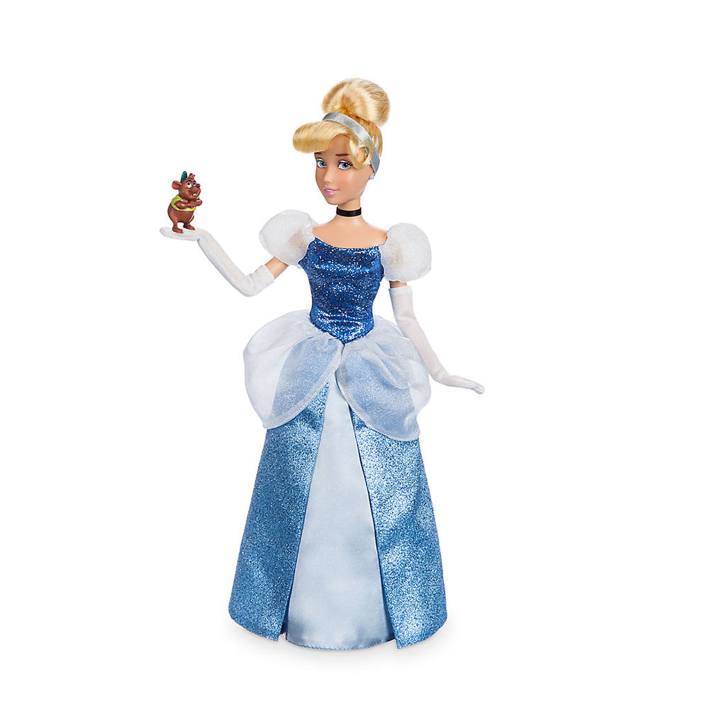 Animated cartoon Cinderella Classic princess Doll with Gus action figure toys collection birthday gift toys for children limited 16cm high classic toy the rock occupation wrestling gladiators wrestler action figure toys for children classic gift