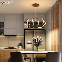 White Coffee Color Led Modern Pendant Lights For Dining Living Room Kitchen Aluminum Lamp Body Hanging Cord Fixtures Deco Abajur