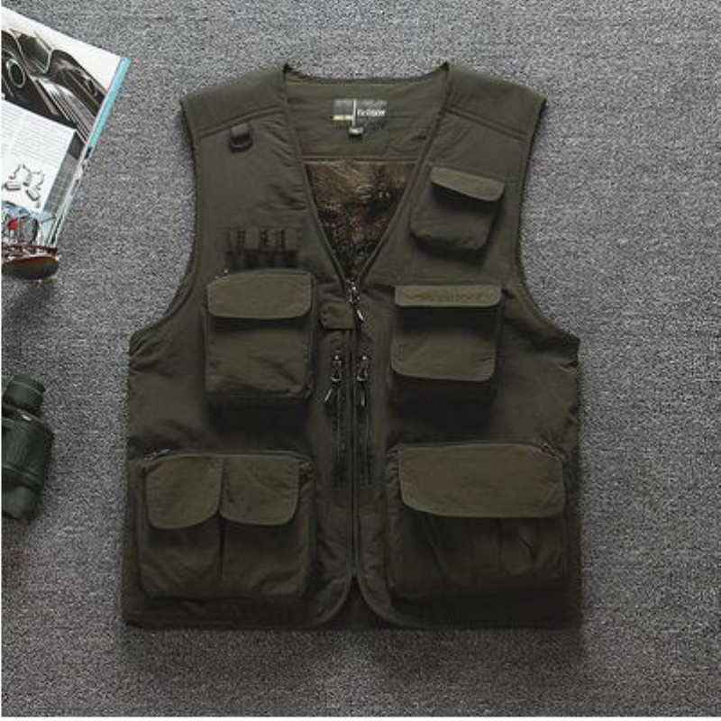 Sports & Entertainment Sports Clothing Summer Men Camouflage Mesh Breathable Vest Outdoor Fishing Angling Hunting Multi-pocket Photography Director Thin Waistcoat Tops