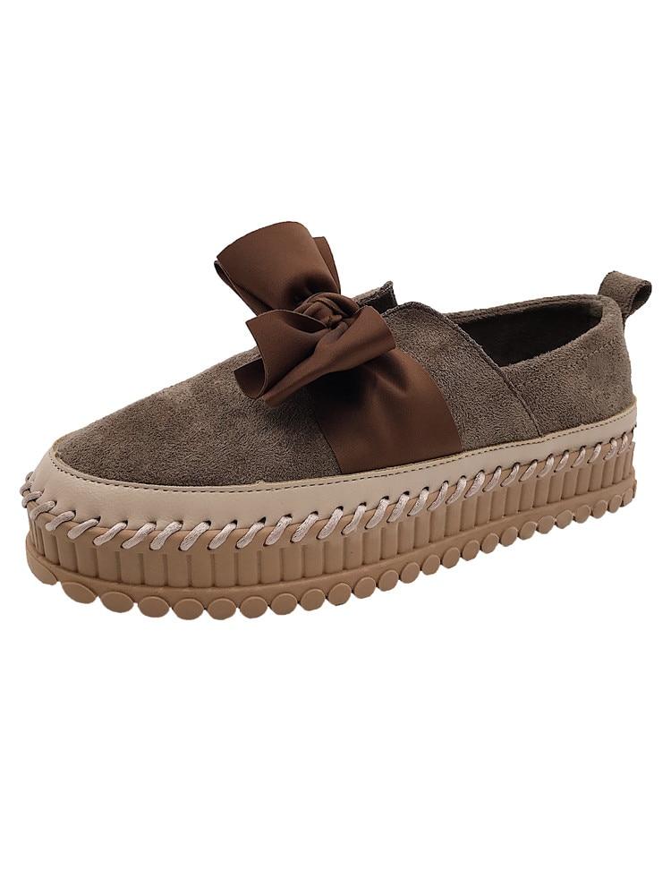 Retro Solo Nueva Coreana Mujeres Caliente Salvaje Tendencia Moda Versión Zapatos La marrón Arco De Beige Las Cómoda 2018 fAqw1z7