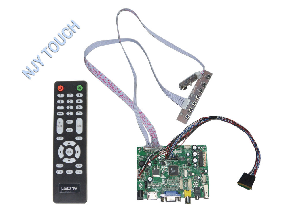 New arrival HDMI VGA AV Audio USB FPV Powerful LCD Controller Kit For LED panel LP156WH4  LTN116AT01 1366x768 youtoing yt box4x4 lcd video wall controller hdmi vga av usb processor 4x4 nine images stitching image processor 16tv 1080p