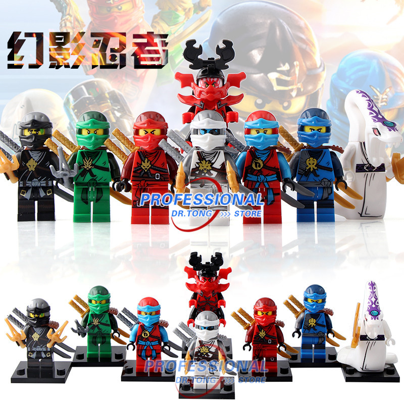 Building Blocks X0143 Ninja Lloyd ZANE Figures Super Heroes Star Wars Set Model Action Bricks Kids DIY Toys Hobbies building blocks the walking dead figures rick negan carl daryl star wars super heroes set assemble bricks kids diy toys hobbies