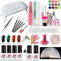 Rosalind poligel set with nail stickers and UV LED dryer lamp with cat eye vernis semi permanant uv gel varnish kits tools