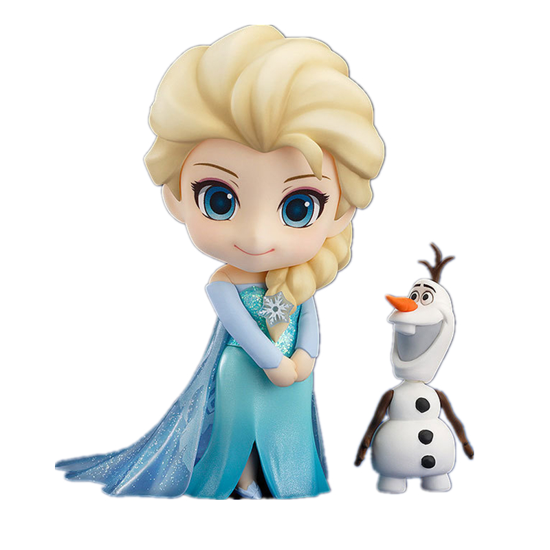 Nendoroid 10cm Elsa & Anna Cute Version Snow Queen Olaf Action Figures Nice Collections With Box For Girls Gifts 1