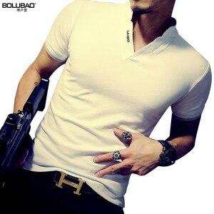 Image 2 - BOLUBAO חדש קיץ מותג חולצת פולו גברים אופנה מוצק צבע קצר שרוול פולו גברים מקרית Slim Fit גברים למעלה Tees חולצות