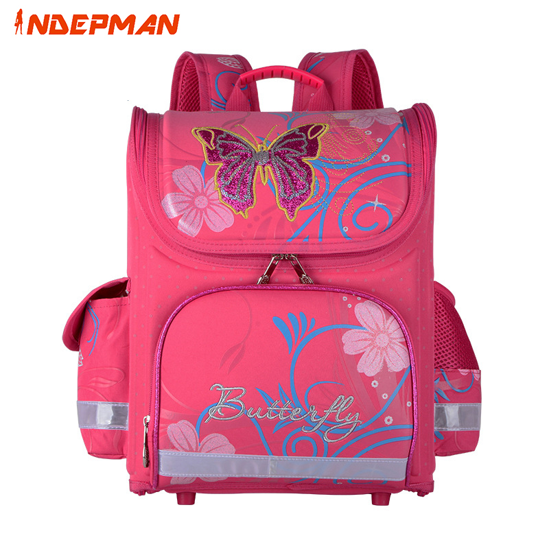Waterproof Backpack for Children Animal Butterfly Orthopedic School Bags for Girls Primary Cute 3d Print Kids Schoolbag new fashion animal school bag for boys cute dog children orthopedic school backpack for girls children mochila escolar for kids
