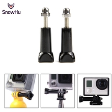 Free Shipping 2pcs GoPro Thumb Screw Clip Bolt Nut Accessories For GoPro Hero 3+ 1 2 3 4 SJCAM SJ4000 XIAOMI YI Black Long  GP08 cnc aluminum screw set for gopro hero 4 hero 2 hero 3 3 sj4000 3 pcs