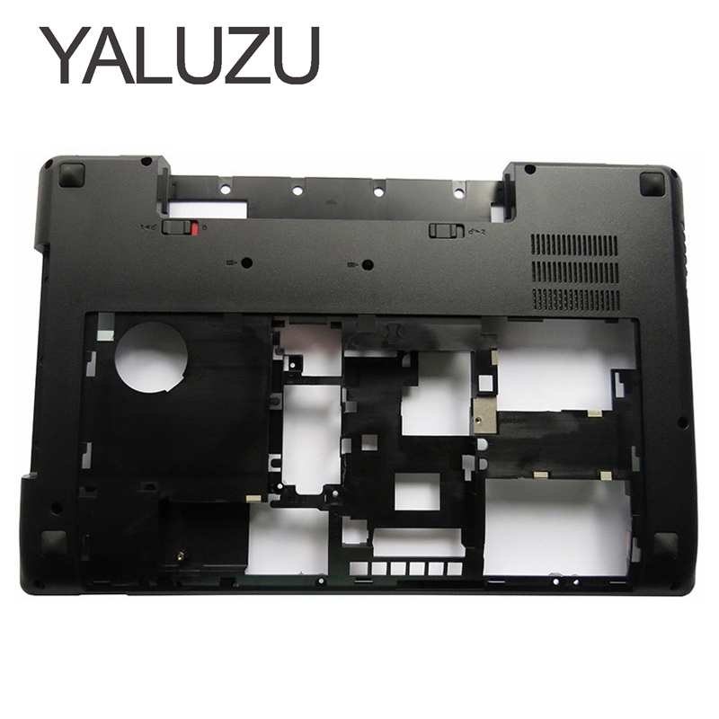 YALUZU NEW Laptop Bottom Base Case Cover for Lenovo Y580 Y585 Y580N MainBoard Bottom Casing case Base replace D shell lower case original new 15 6laptop lower case for hp omen 15 5000 series bottom cover base shell 788598 001 empty palmrest 788603 001