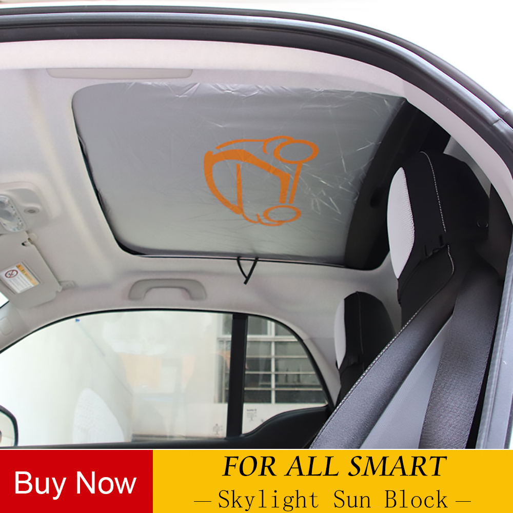 Foldable Sunroof Shade Sunshade Heat Isolate For Smart Forfour Fortwo 453 451 450 Windshield Awning Car Cover Auto Parts