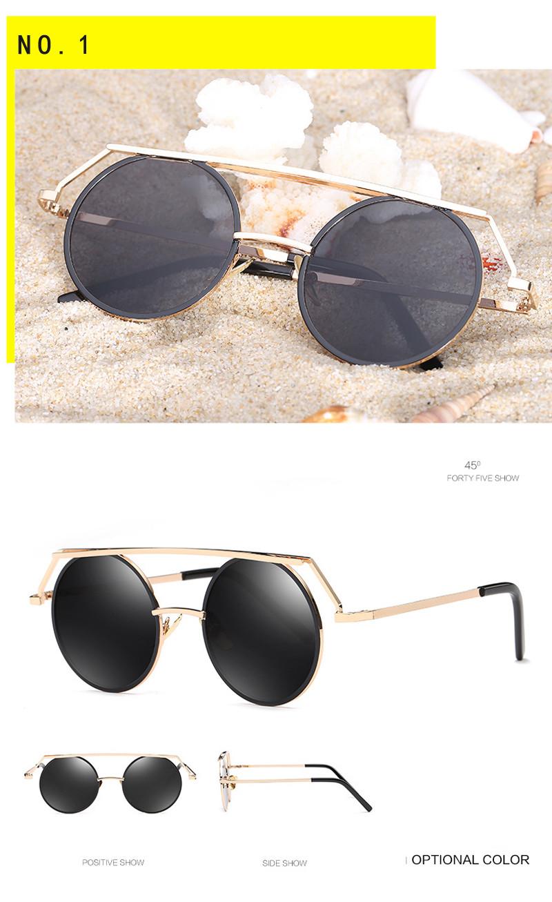 96ea49da7af Kdeam Headdress Vinatge Sunglasses Round For Women Men Steampunk ...