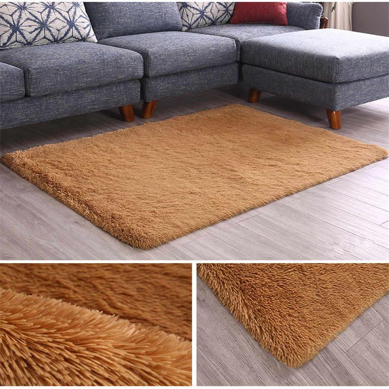 Nórdico sofá de seda tapete sala de estar quarto tapete mesa de café sala de cabeceira quarto cobertor tapete de yoga cabelo de seda lavada não -deslizamento tapete