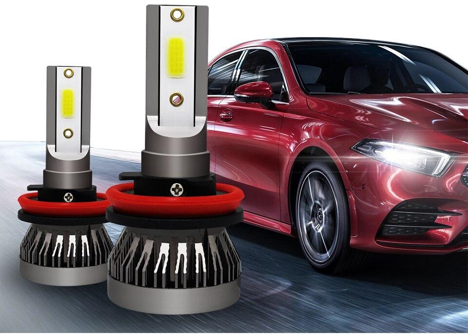 AVACOM 8000K 4300K H7 LED Bulbs H4 LED Car Headlight H1 H8 H9 H11 9005 HB3 9006 HB4 12V 8000LM Auto Headlamp LED 3000K 6500K 60W (2)
