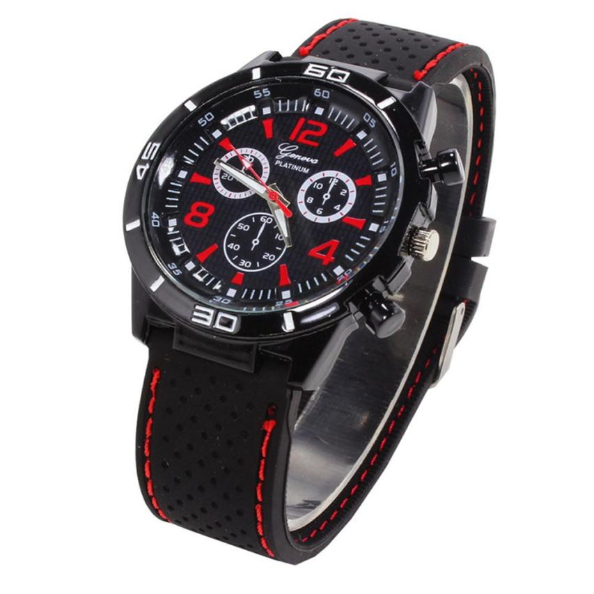 Top Brand Sport Men Wristwatch Male Geneva Watch Luxury Silicone Watchband Military Watches Mens Quartz-Watch Hours Clock Montre top brand women men casual watch lovers leather luxury dress watch woman sport quartz wristwatch male clock hours reloj horloge