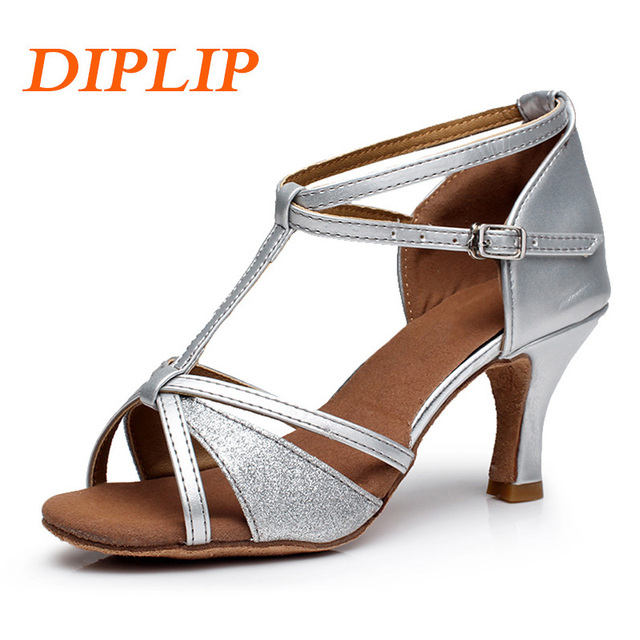 b9e1dc2397 DIPLIP Salsa Latina Tango Dança de Salão de Dança Sapatos Para Mulheres  Meninas sapatos de Salto