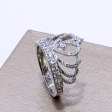 Crown ring Sterling Silver for women