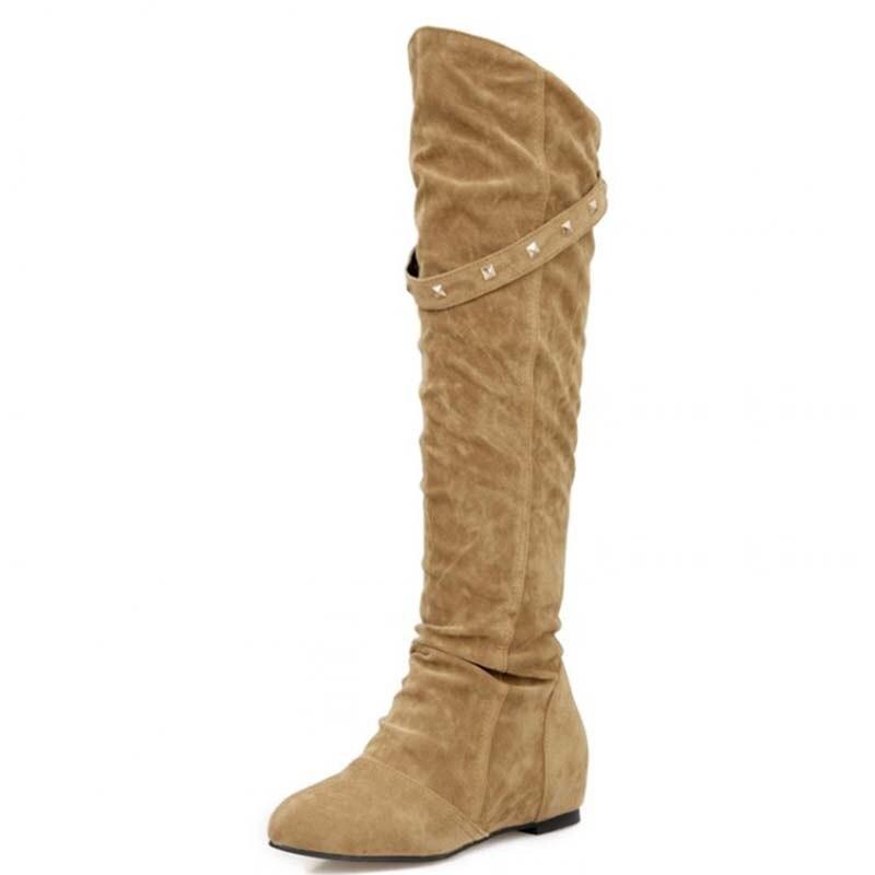 Online Get Cheap Brown Flat Knee High Boots -Aliexpress.com ...