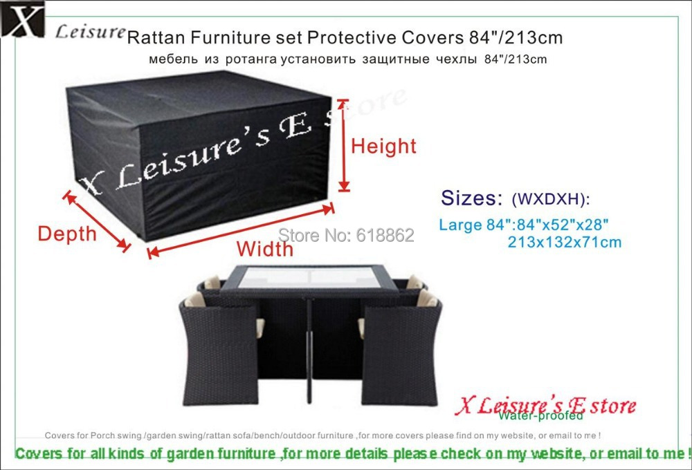 6 Seater Rectangular Rattan Cube Set Cover 213x132x71 cm 84 x52 x28. Popular Rattan Furniture Covers Buy Cheap Rattan Furniture Covers