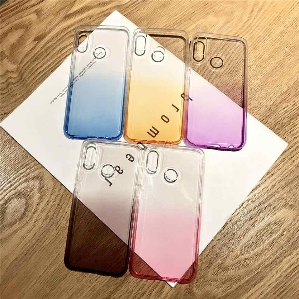 カラフルな虹 TPU 電話ケース Huawei 社 P20 Lite P10 メイト 20 プロ 10 9 ノヴァ 3 4 名誉 8X 7X 6X 7A 6A 5A 7C 8 シリコーンカバー
