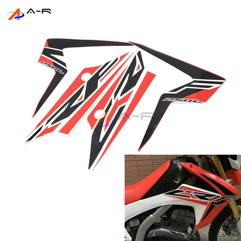 2PCS Motorcycle Body Frame Gas Fuel Tank Pad Protector Sticker Decal Paster Tags