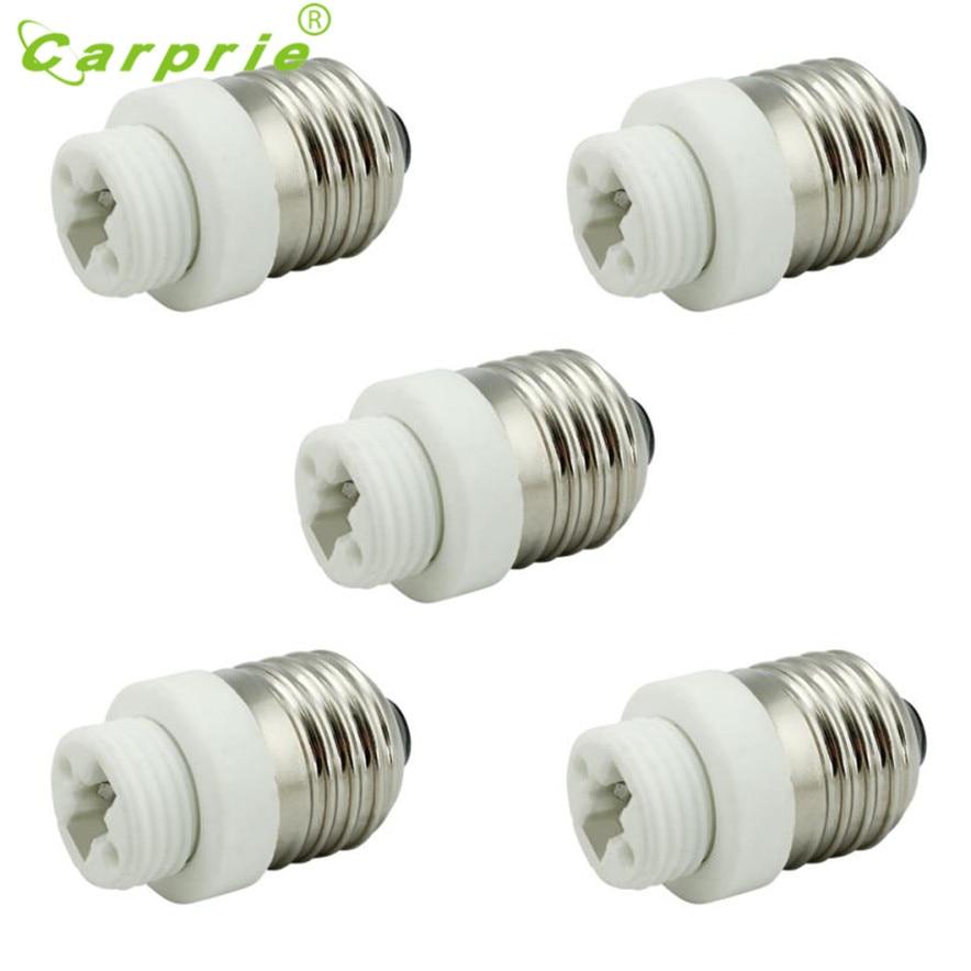 CARPRIE 5PC E27 to G9 Base Socket Light Bulb Lamp Holder Adapter Plug Converter U70201 DROP SHIP