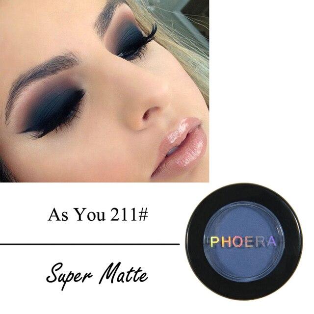 PHOERA Smoky Eyeshadow Palette Powder Matte Shimmer Eye Shadow Palette Make Up Cosmetic maquiagem Tint 12 colors TSLM2 3