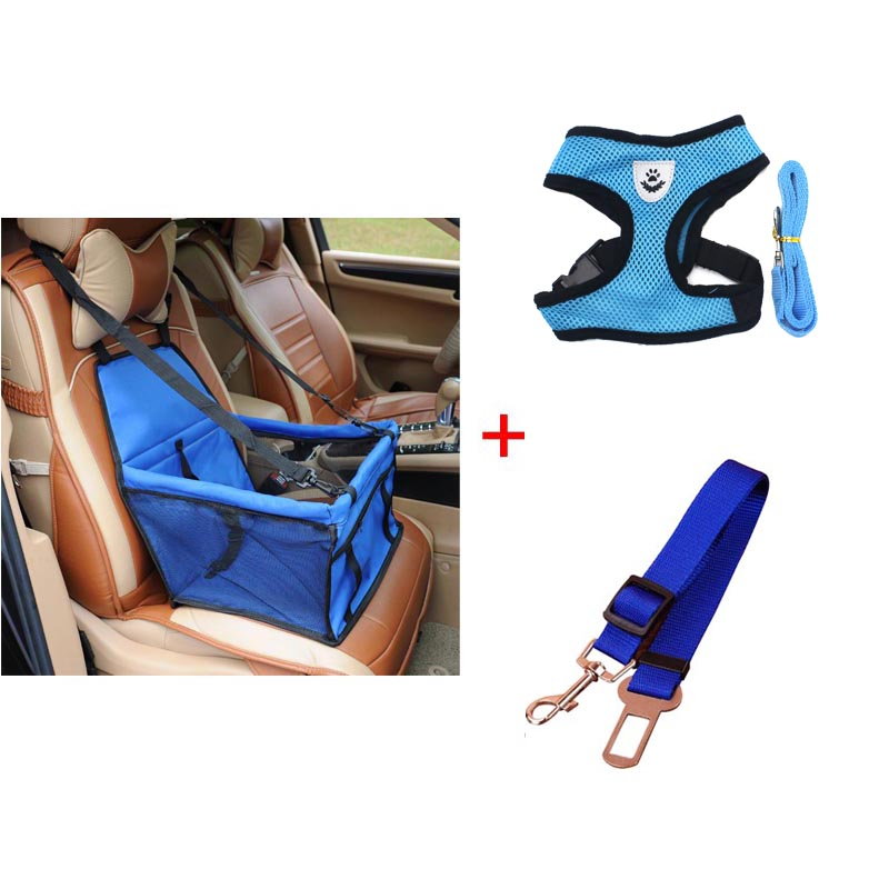 pawstrip 4 Colors Pet Dog Booster Seat Pet Safety Belt Car Dog Seat Belt S-XL Pet Dog Harness Vest Small Dog Leash Harness Set