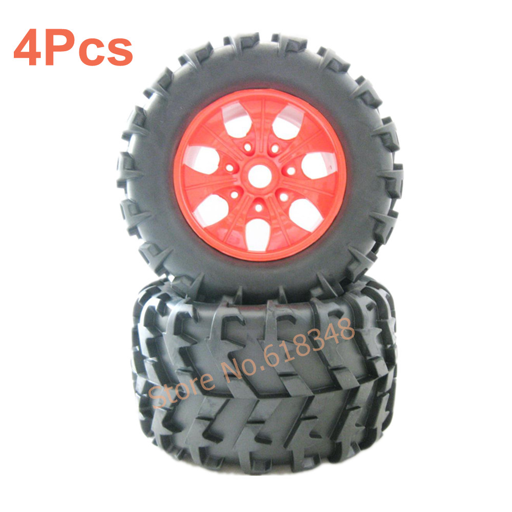 1 8 rc monster truck pair wheel complete 810005 amax himoto hsp 150mm 80mm