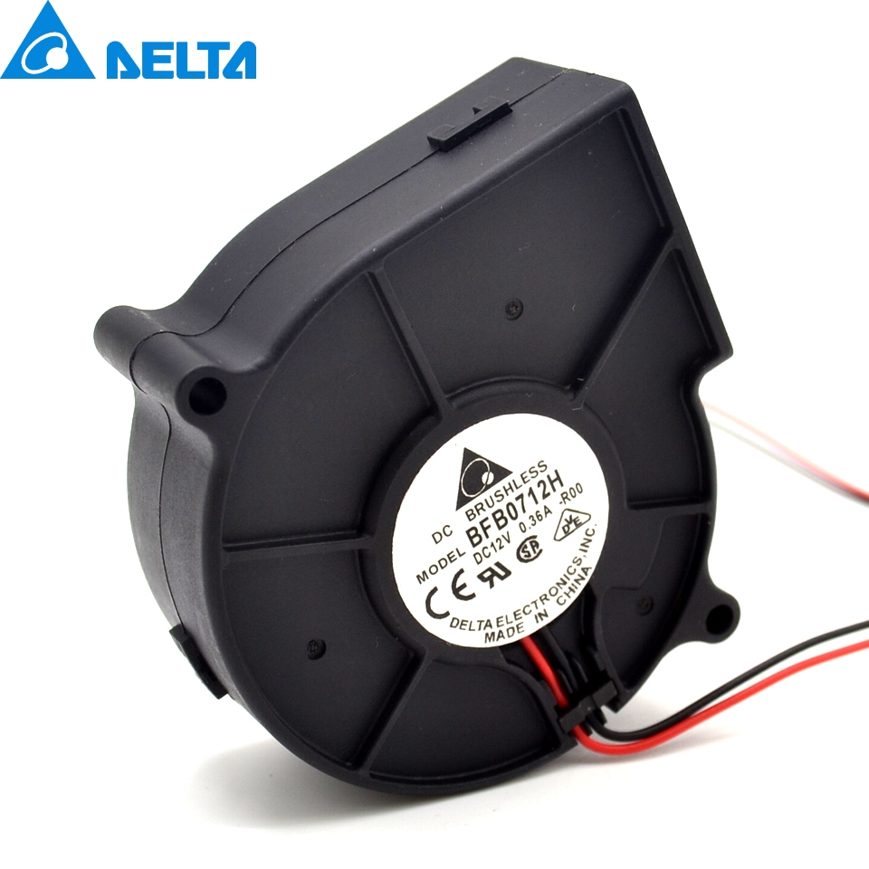 Delta BFB0712H 12V 75*75*30mm 0.36A turbofan projector fan