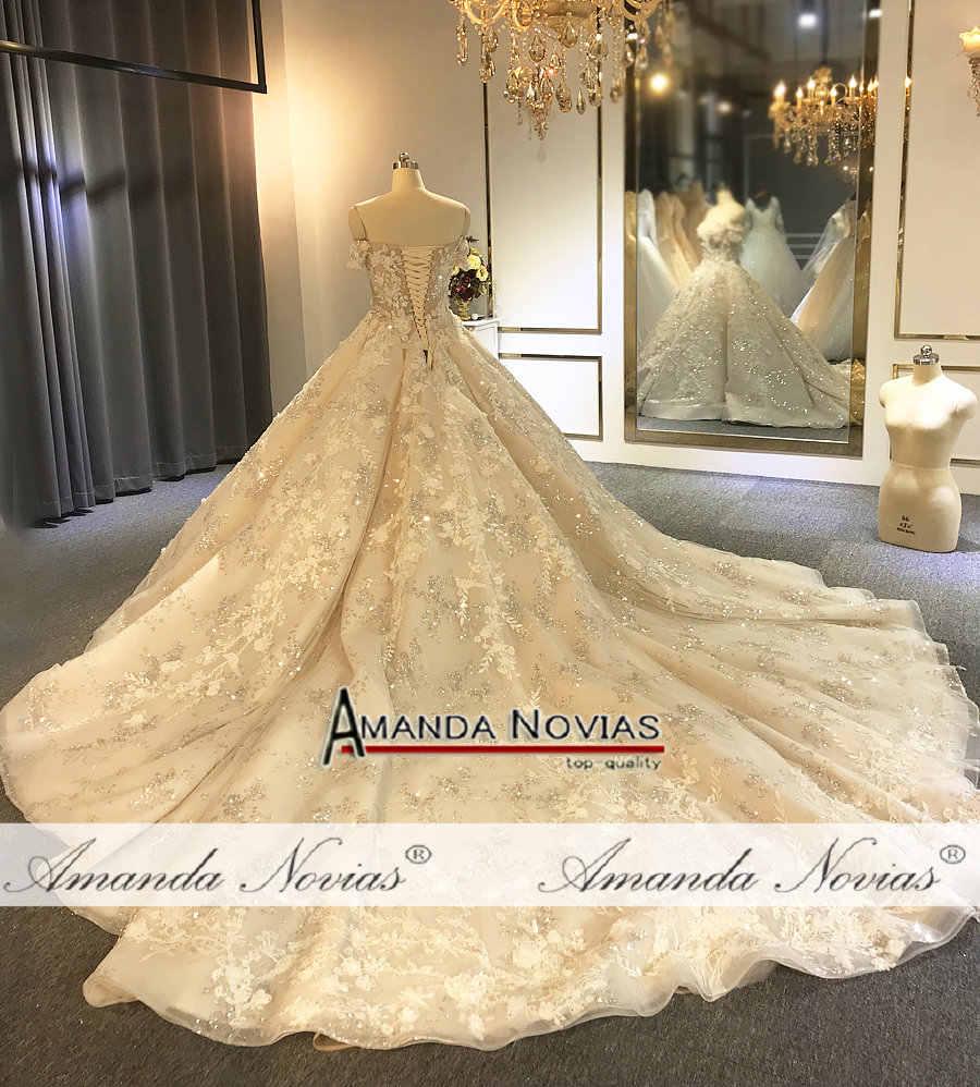 2019 халат de soiree роскошный сверкающий Bling свадебное платье с высоким качеством настоящее произведение
