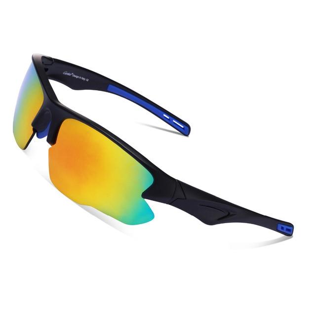 3a1cf61518f Carfia UV400 Sports Sunglasses TR90 Polarized Sunglasses for Mens and  Womens Cycling Driving Biking Fishing Ski Golf Baseball