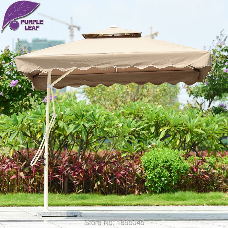 Purple Leaf Patio Umbrella Offset 7.2ft Umbrella Outdoor Market Beach Cafe  Parasol Round/Square