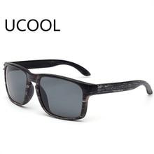 UCOOL Feminino Sun Glasses Outdoors Square Eyewear Gafas De Sol Oculos De Sol FemininoFashionable Wood Sunglasses Men