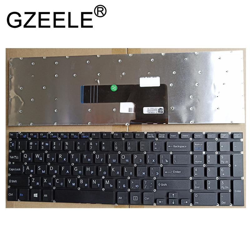 GZEELE NEW Russian RU laptop Keyboard for Sony VAIO SVF152C29V SVF153A1QT SVF152 SVF15A100C SVF152100C SVF153 SVF1521Q1RW SVF15 цены