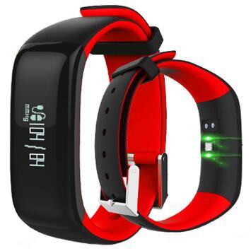 imágenes para Nueva Inteligente Muñequera P1 Inteligente banda Gimnasio Heart rate monitor de Presión Arterial reloj pulsera inteligente para ios android xiaomi mi banda pk 2