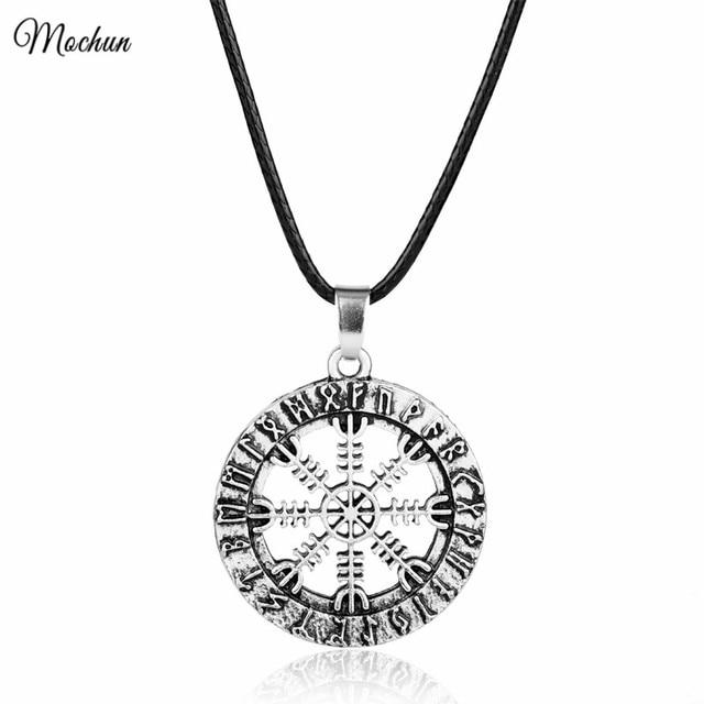 Mqchun New Amulet Rune Norse Viking Odins Symbol Of Runic Vikings