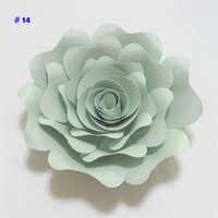 2018 DIY Papier Blumen 15CM Papier Rose Für Hochzeit & Event Dekorationen Kulissen Deco Baby Kindergarten Mode Zeigen Video tutorials