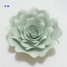 2018 DIY Paper Flowers 15CM Paper Rose For Wedding & Event Decorations Backdrops Deco Baby Nursery Fashion Show Video Tutorials(China)