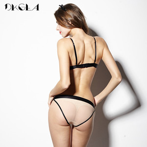 Image 3 - 2020 New Hollow Out Sexy Underwear Women Bra Set Luxury Seamless Brassiere Brand Transparent Bras Lace Lingerie Set Embroidery