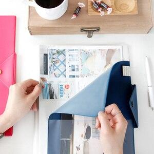 Image 4 - VINTAGE Snap แฟ้มโฟลเดอร์ Faux หนังโฟลเดอร์ A4 แฟ้ม Organizer แฟ้มเอกสารกระเป๋าสำหรับเอกสาร
